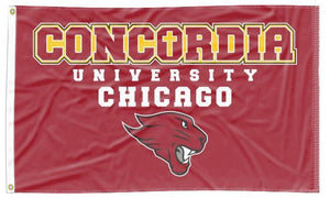 Concordia University Chicago - Cougars Red 3x5 Flag