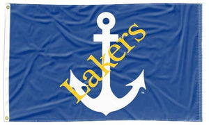 Lake Superior State - Lakers Blue 3x5 Flag