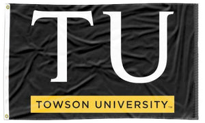 Towson - TU Tigers Black 3x5 Flag