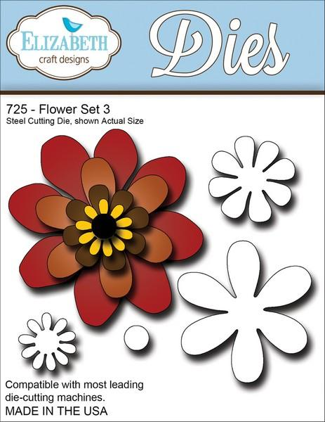 Elizabeth Craft Designs - Dies - Flower Set 3