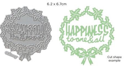 Disney - Cutting Dies - Vintage Happiness To All Wreath