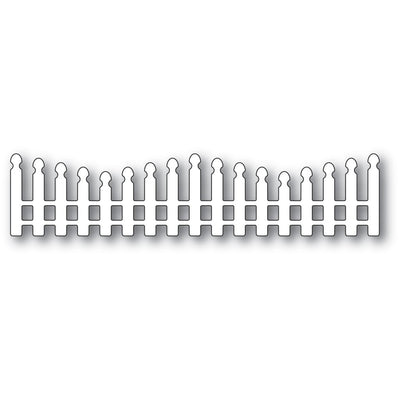 Poppystamps - Dies - Wavy Long Picket Fence