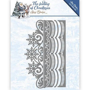Amy Designs - Dies - The Feeling Of Chirstmas - Ice Crystal Border