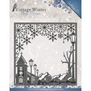Amy Design - Dies - Vintage Winter Collection - Village Frame Square