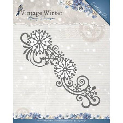 Amy Design - Dies - Vintage Winter Collection - Snowflake Swirl Border