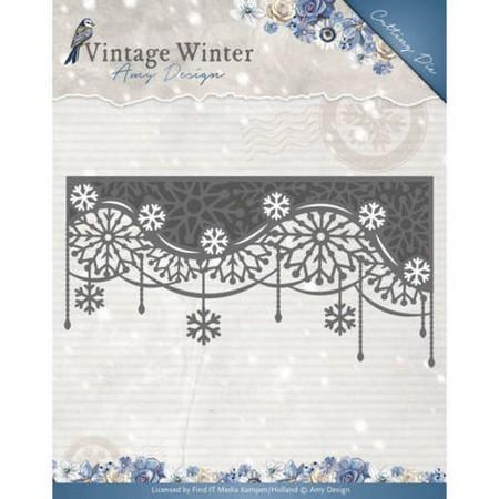 Amy Design - Dies - Vintage Winter Collection - Snowflake Swirl Edge