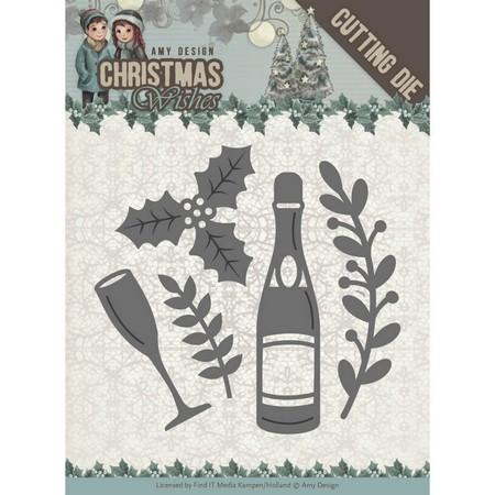 Amy Design - Dies - Christmas Wishes - Champagne