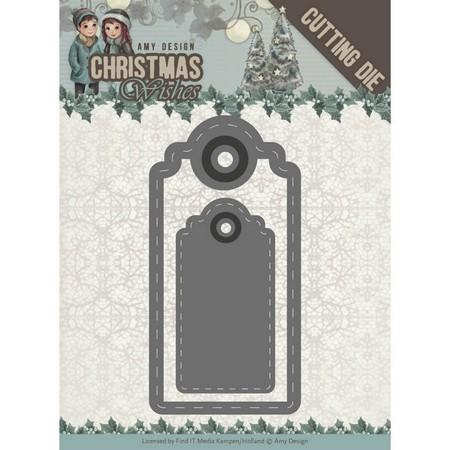 Amy Design - Dies - Christmas Wishes - Wishing Labels