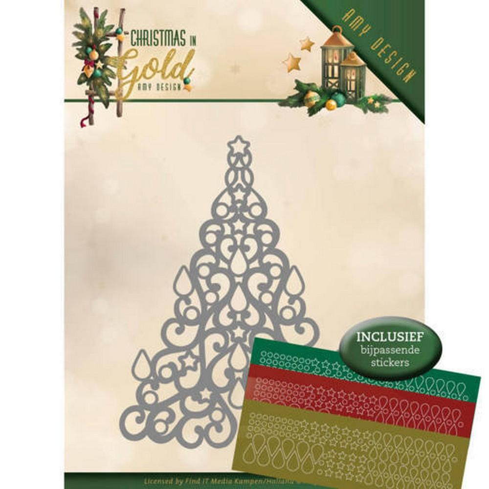 Amy Design -Dies - Christmas In Gold - Christmas Tree Hobbydots