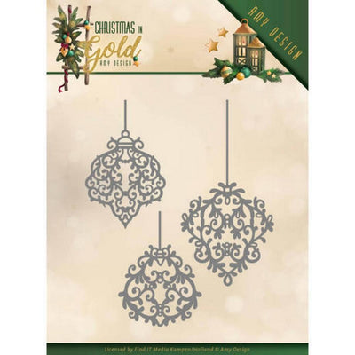 Amy Design -Dies - Christmas In Gold - Golden Ornaments