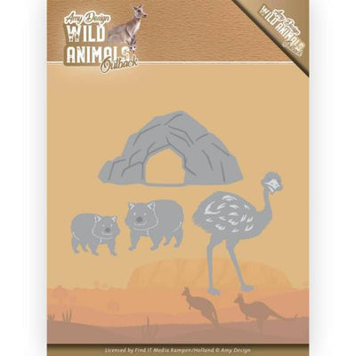 Amy Design - Dies - Wild Animals Outback - Emu & Wombat