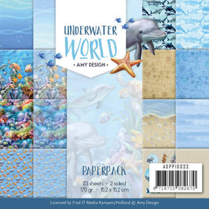 "Amy Design - 6"" x 6 "" Paper Pack - Underwater World"