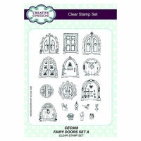 Creative Expressions Fairy Doors set 1 A5 Clear Stamp Set