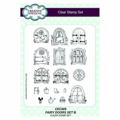 Creative Expressions Fairy Doors set 2 A5 Clear Stamp Set