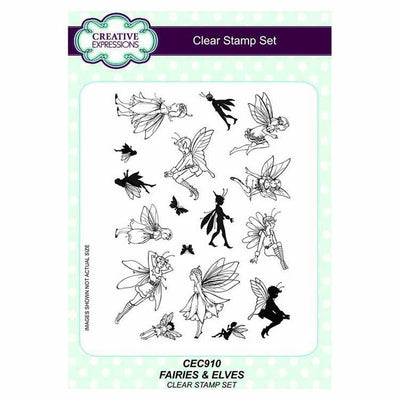 Creative Expressions Fairies & Elves A5 Clear Stamp Set