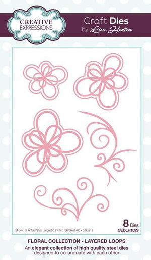 Creative Expressions - Floral Collection   - Layered Loops Craft Die
