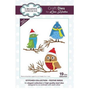 Creative Expressions - Stitched Collection  - Festive Birds Craft Die