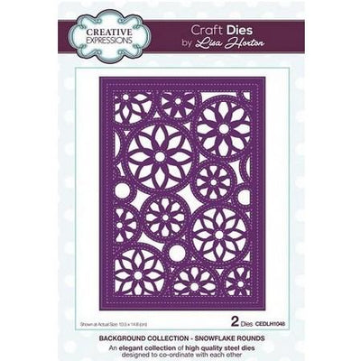 Creative Expressions - Background Collection - Snowflake Rounds Craft Die