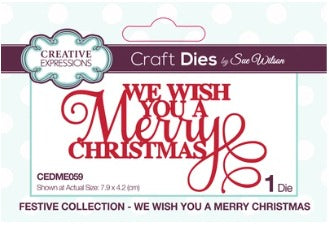 Sue Wilson - Festive Collection - We Wish You A Merry Christmas