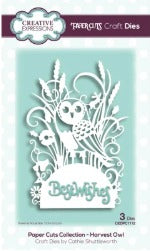 Creative Expressions - Dies - Paper Cuts Collection - Harvest Owl Edger