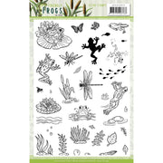 Amy Design - Clear Stamps - Friendly Frogs