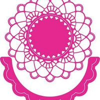 Cheery Lynn Designs - Felicity Doily With Angel Wing