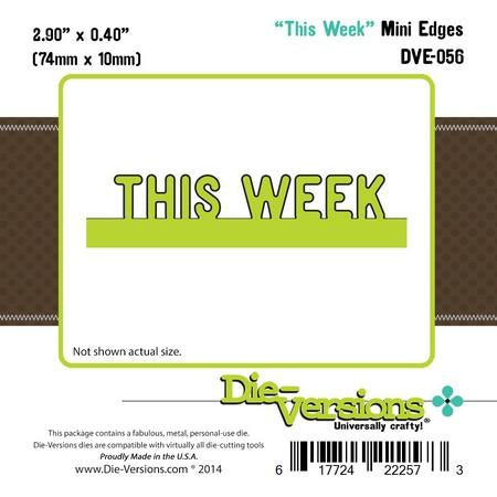 Die-Versions - Express Edges Mini - This Week