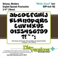 Die-Versions - Fonts - Middle School