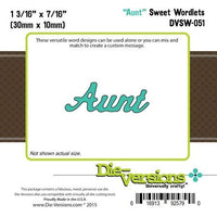 Die-Versions - Sweet Wordlets - Aunt