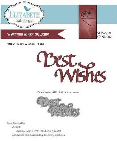 Elizabeth Craft Designs - Best Wishes