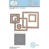Elizabeth Craft Designs - Dies - Fitted Frames 2 - Lace Squares