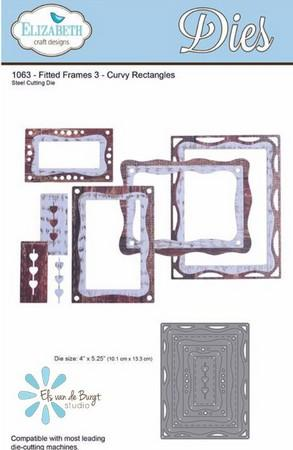 Elizabeth Craft Designs - Fitted Frames 3 Curvy Rectangles