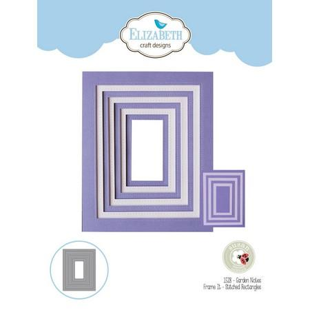 Elizabeth Craft Designs - Dies - Frame It Stitched Rectangles
