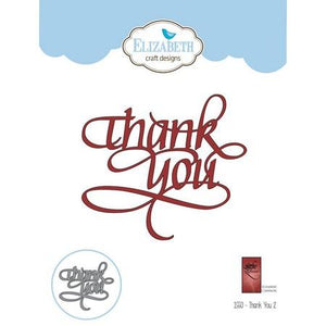Elizabeth Craft Designs - Dies - Thank You 2