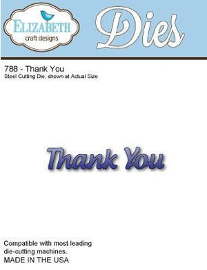 Elizabeth Craft Designs - Dies - Thank You