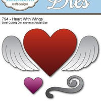 Elizabeth Craft Designs - Dies - Heart With Wings