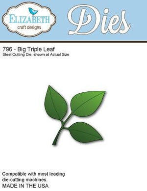 Elizabeth Craft Designs - Dies - Big Triple Leaf Set