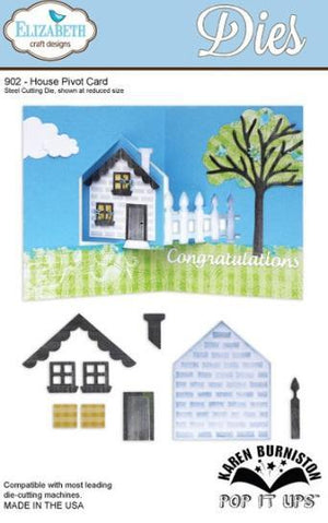 Elizabeth Craft Designs - Dies - House Pivot Card