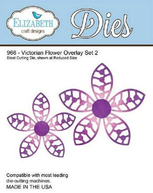 Elizabeth Craft Designs - Victorian Flower Overlay Set 2