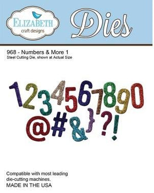 Elizabeth Craft Designs - Numbers & More 1