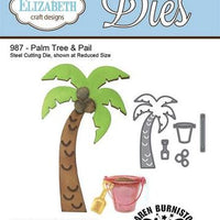 Elizabeth Craft Designs - Palm Tree & Pail