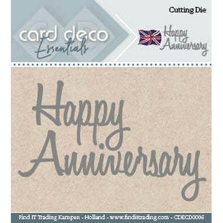 Card Deco - Dies - Happy Anniversary