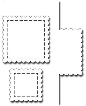 Frantic Stamper - Dies - Bump Card Scalloped Square