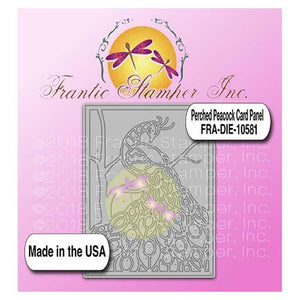 Frantic Stamper - Dies - Perched Peacock Card Panel