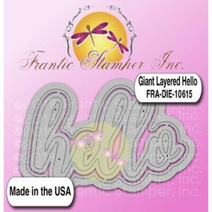 Frantic Stamper - Dies - Giant Layered Hello
