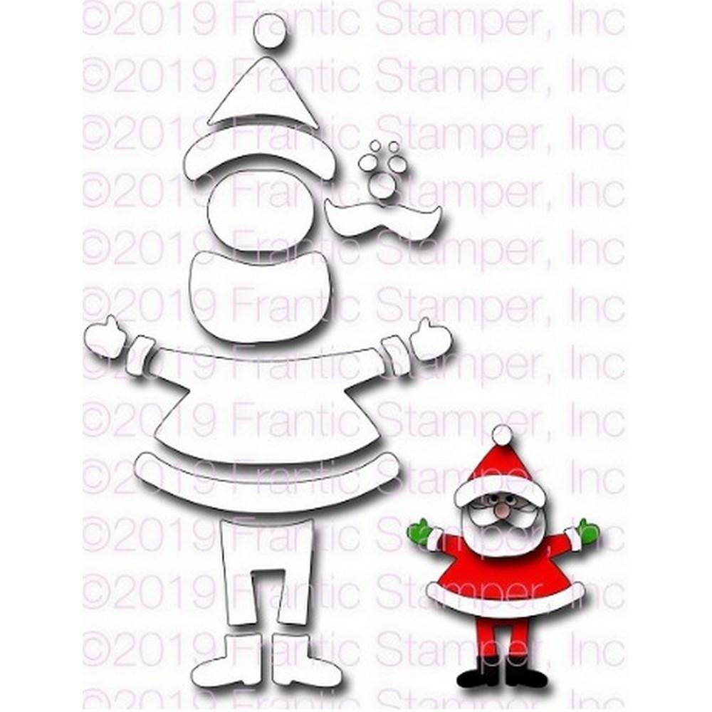 Frantic Stamper - Dies - Build A Santa