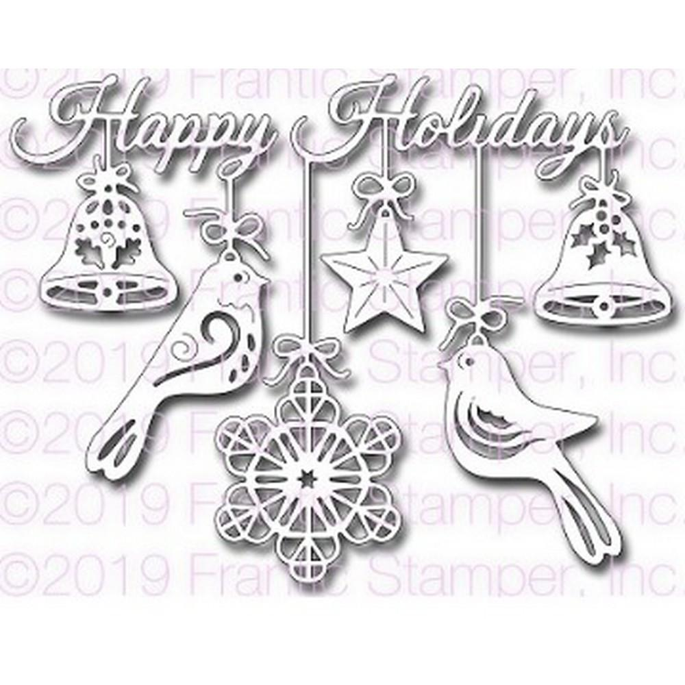 Frantic Stamper - Dies - Folk Art Happy Holidays