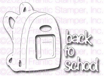 Frantic Stamper - Dies - Back To School Backpack