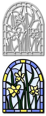 Frantic Stamper - Dies - Daffodils Stained Glass