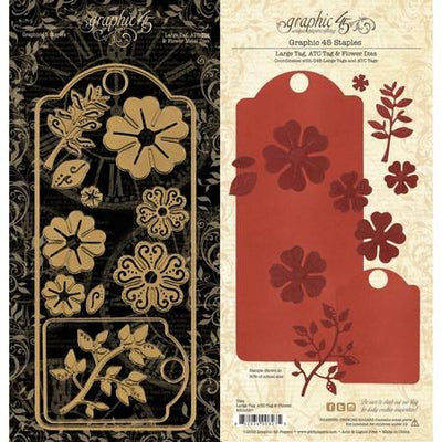 Graphic 45 - Dies - Large Tag, ATC Tag & Flower